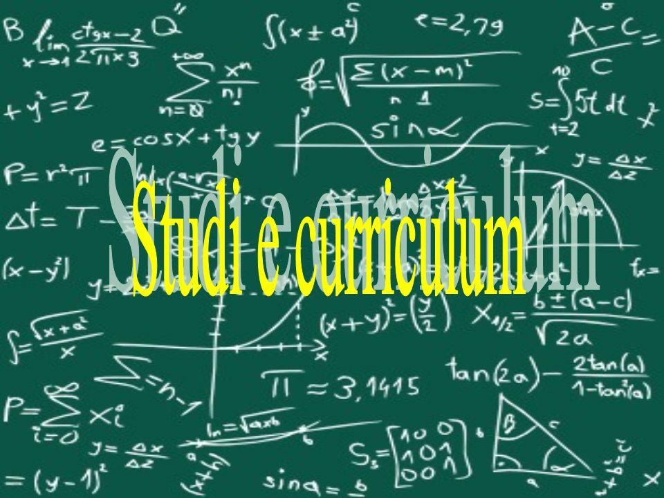 Studi e curriculum