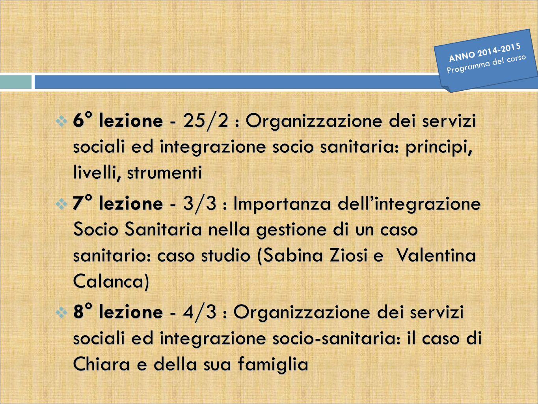 ANNO 2014-2015 Programma del corso.