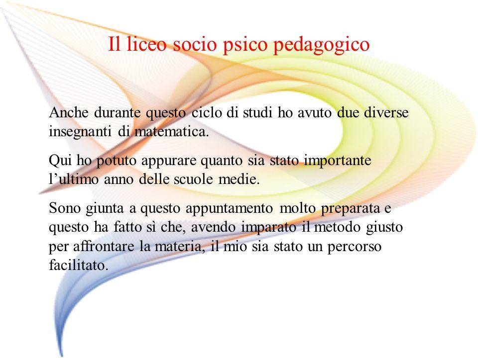 Il liceo socio psico pedagogico
