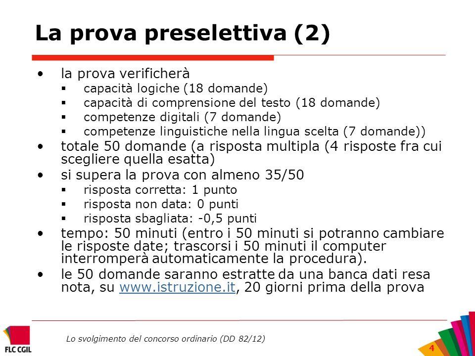 La prova preselettiva (2)