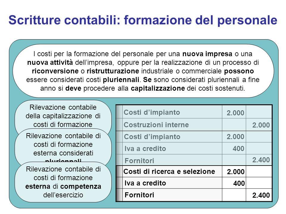 Scritture contabili: formazione del personale
