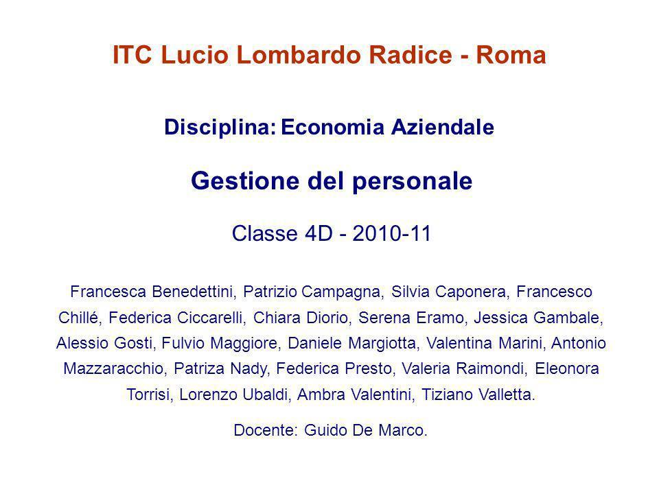 ITC Lucio Lombardo Radice - Roma Gestione del personale