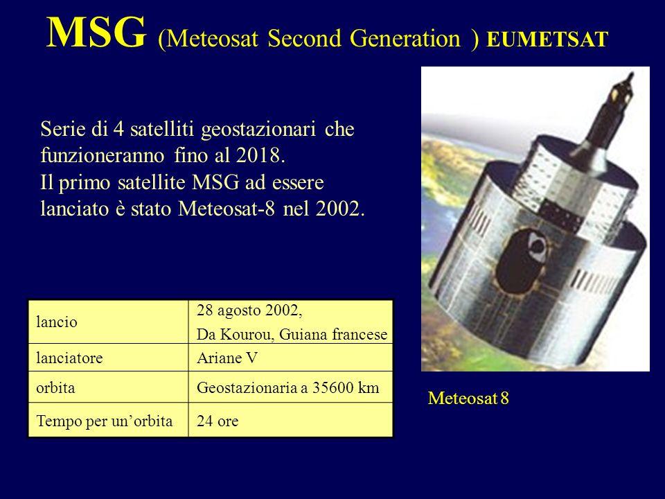 MSG (Meteosat Second Generation ) EUMETSAT