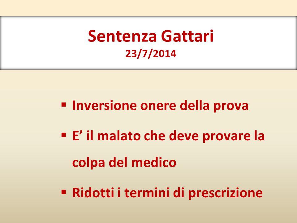 Sentenza Gattari 23/7/2014 Inversione onere della prova