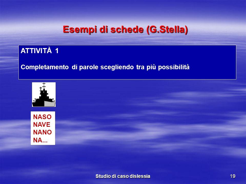 Esempi di schede (G.Stella)