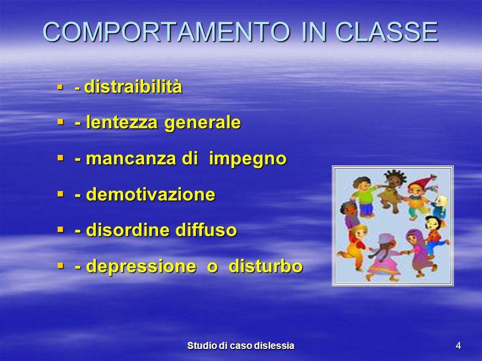 COMPORTAMENTO IN CLASSE