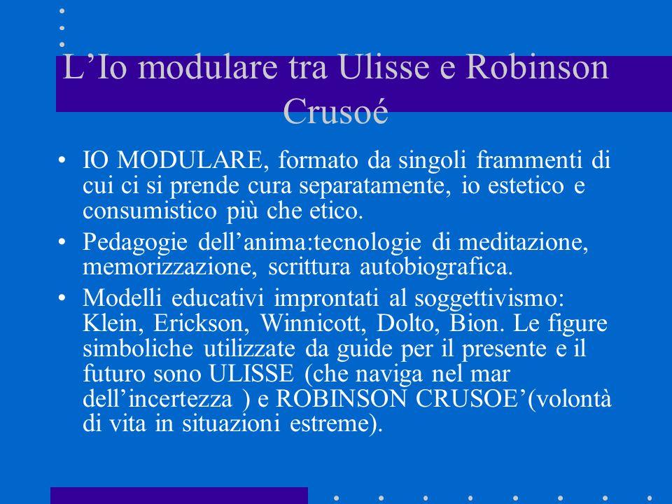 L'Io modulare tra Ulisse e Robinson Crusoé