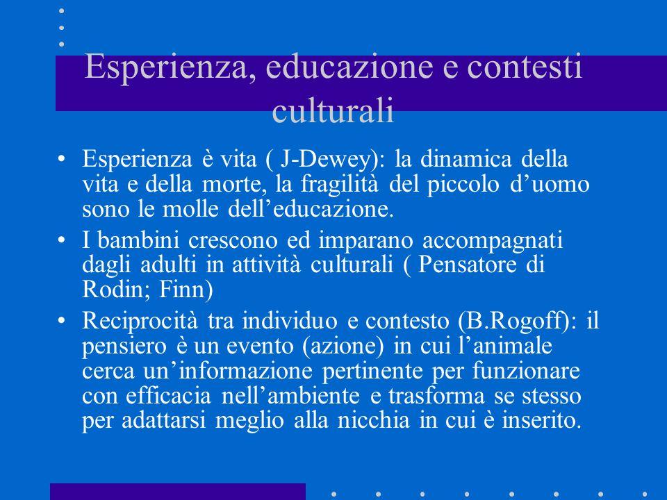 Esperienza, educazione e contesti culturali
