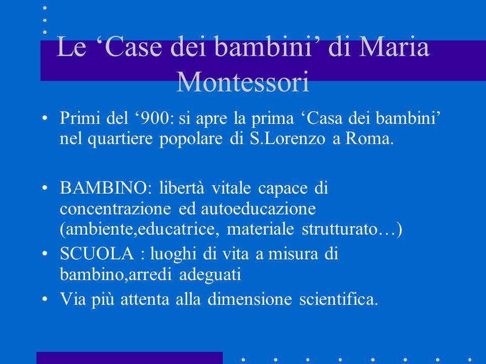 Le 'Case dei bambini' di Maria Montessori