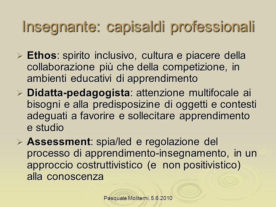 Insegnante: capisaldi professionali