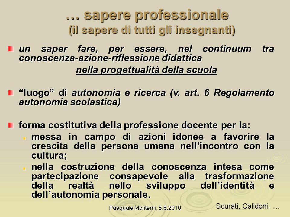 … sapere professionale
