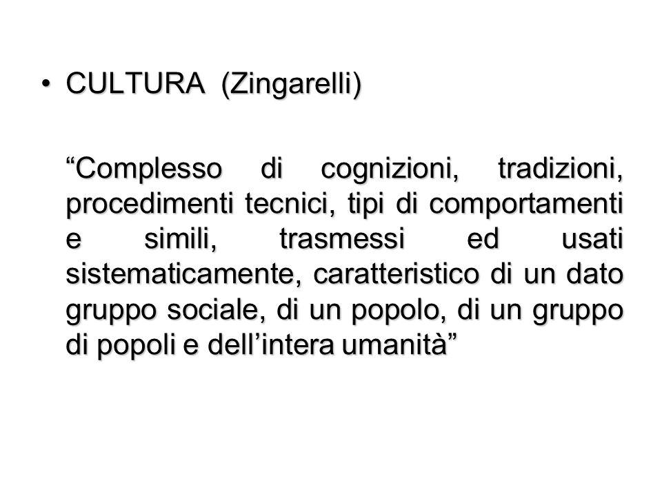 CULTURA (Zingarelli)