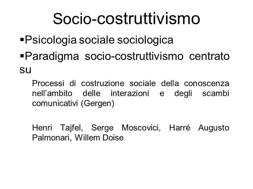 Socio-costruttivismo