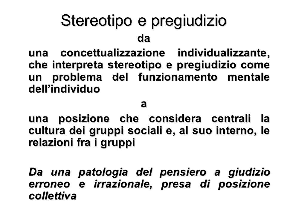 Stereotipo e pregiudizio
