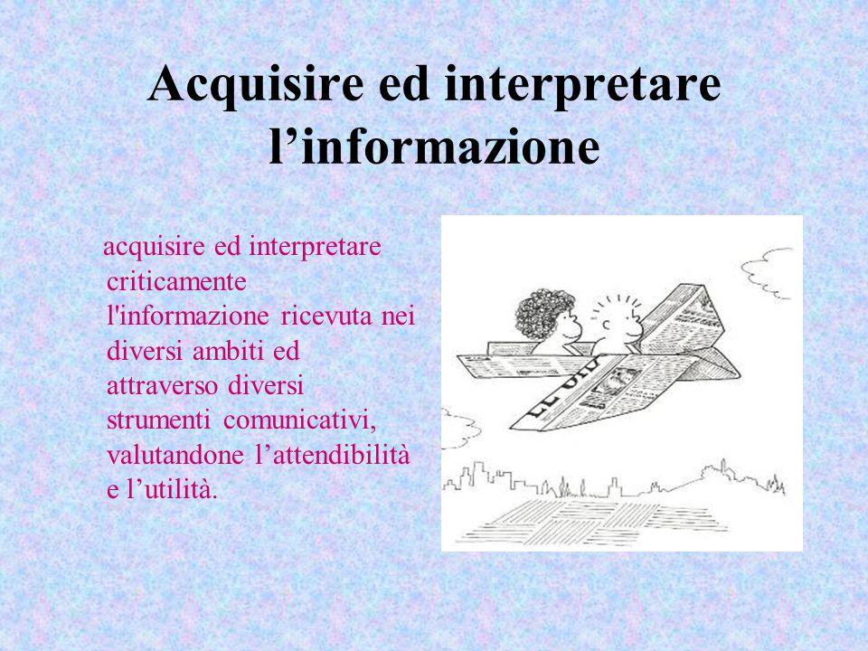 Acquisire ed interpretare l'informazione