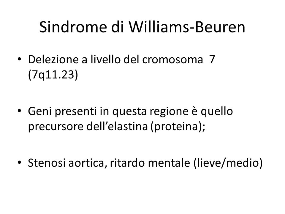 Sindrome di Williams-Beuren