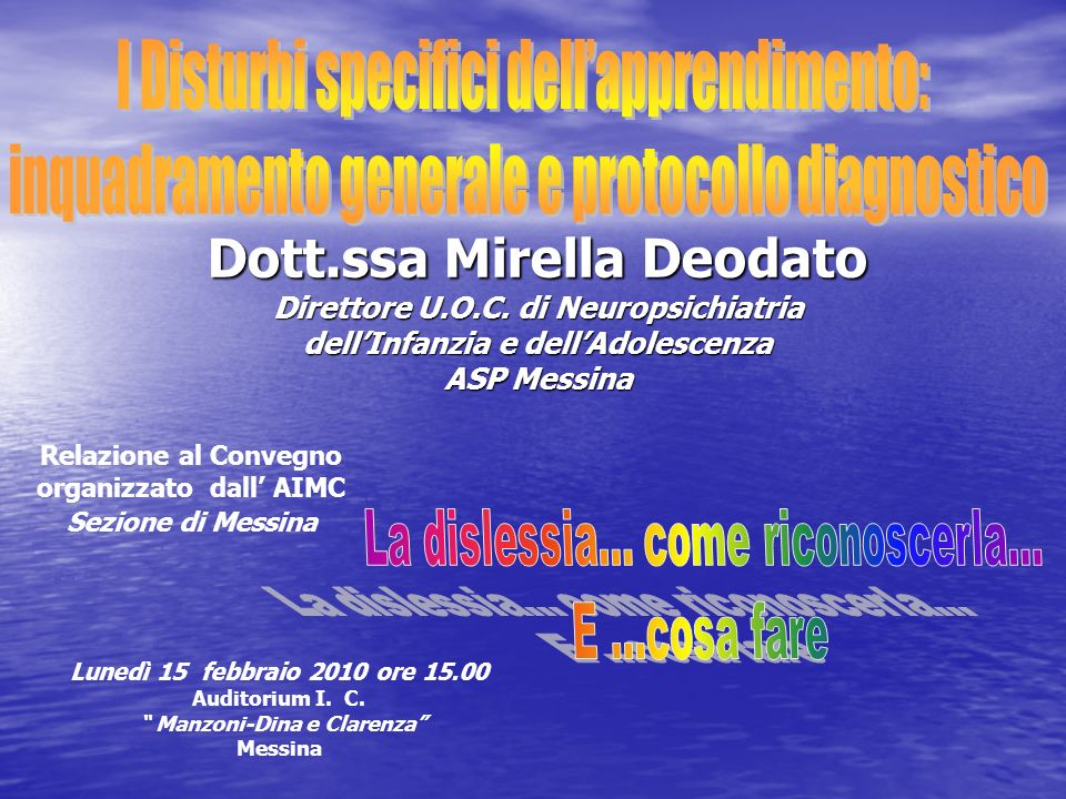 Dott.ssa Mirella Deodato
