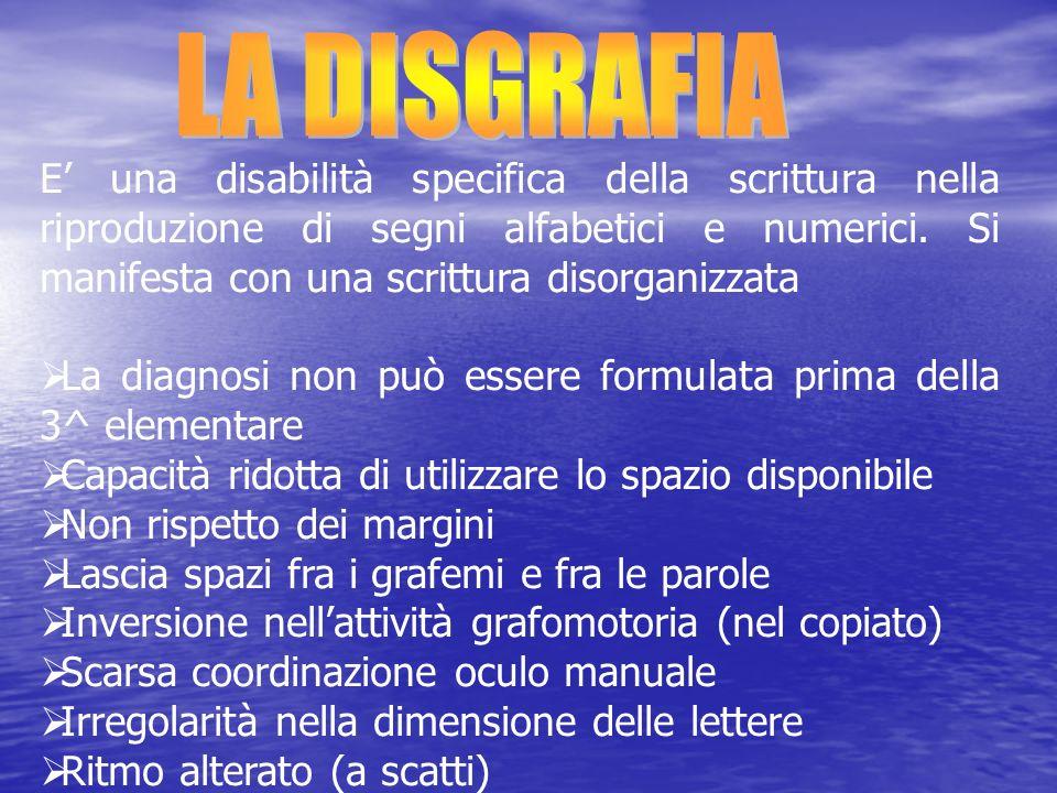 LA DISGRAFIA
