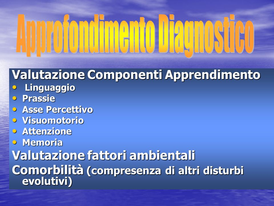 Approfondimento Diagnostico
