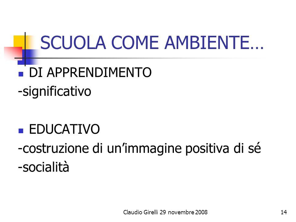 Claudio Girelli 29 novembre 2008