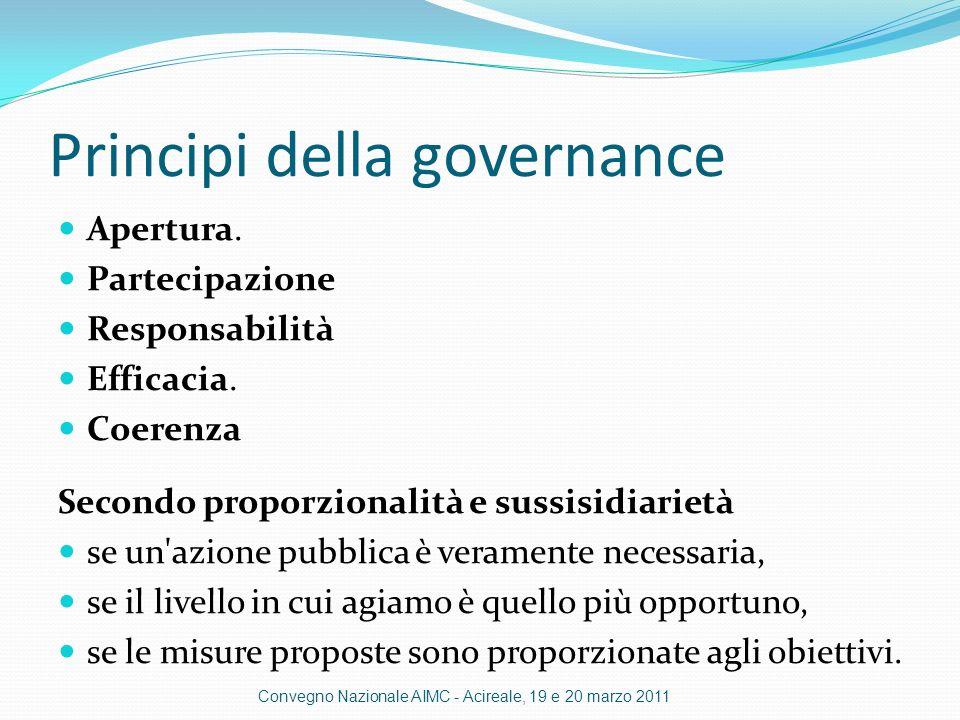 Principi della governance