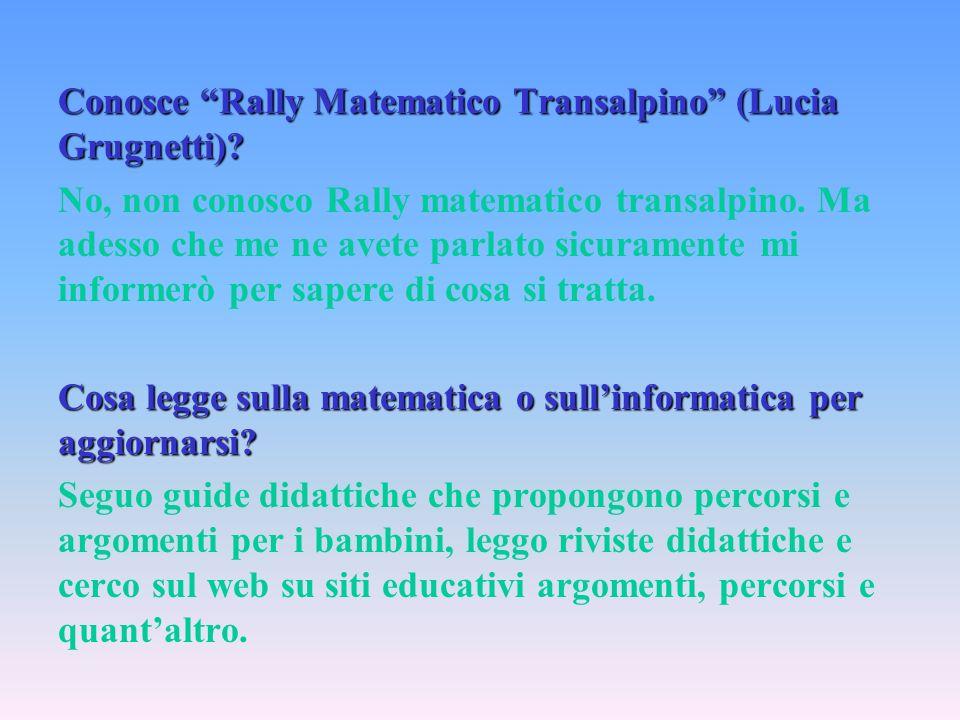 Conosce Rally Matematico Transalpino (Lucia Grugnetti)