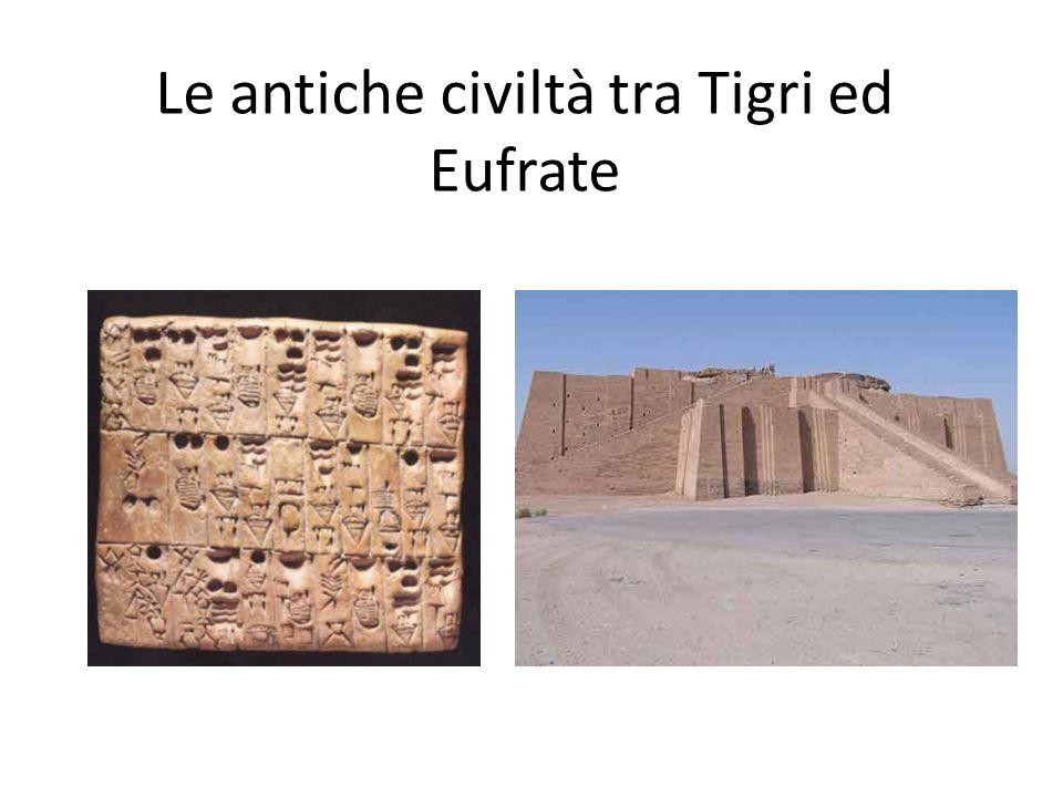 Le antiche civiltà tra Tigri ed Eufrate
