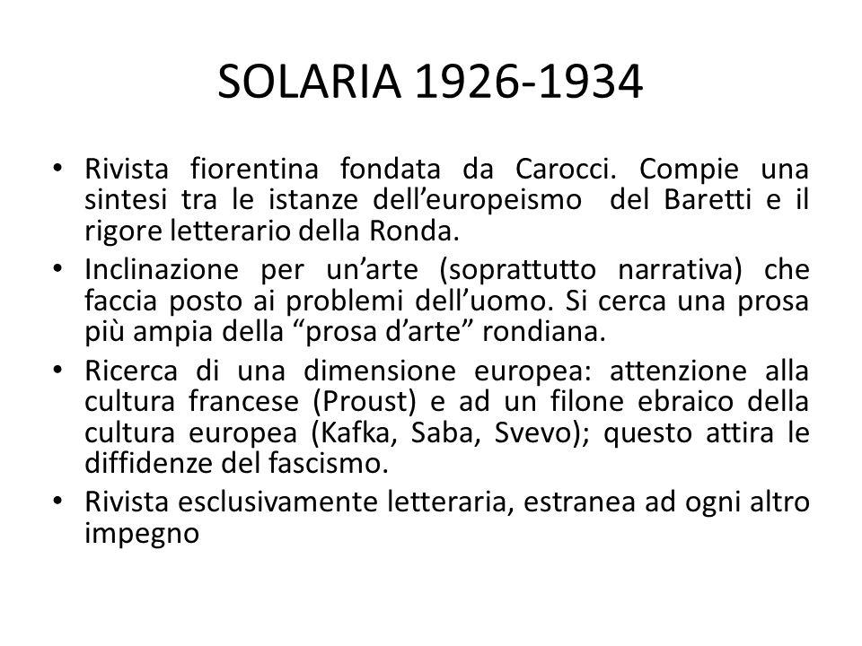 SOLARIA 1926-1934