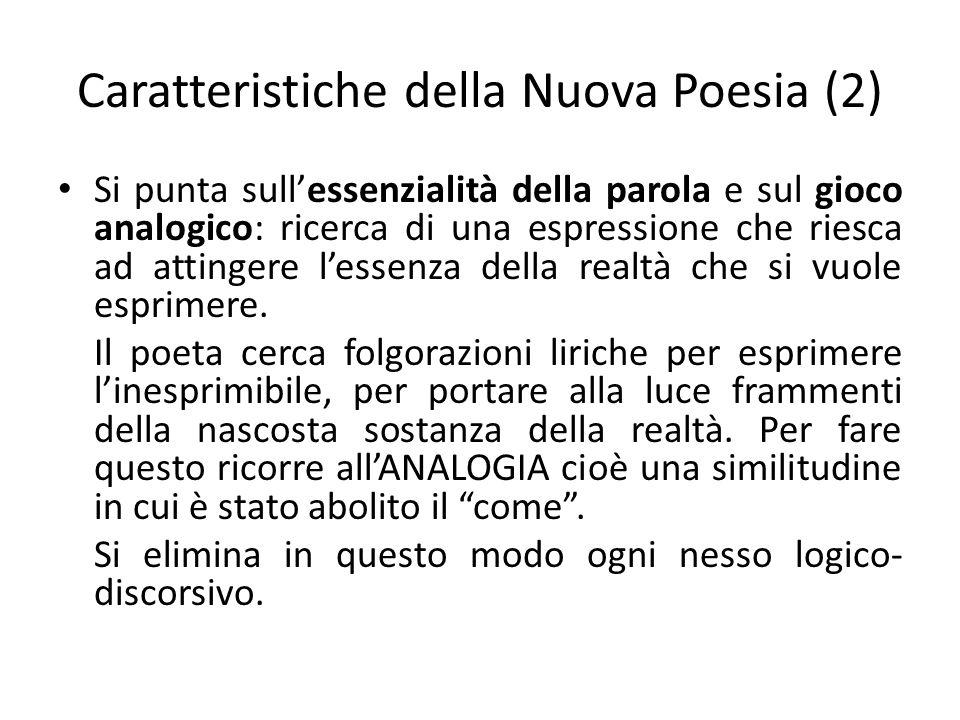 Caratteristiche della Nuova Poesia (2)