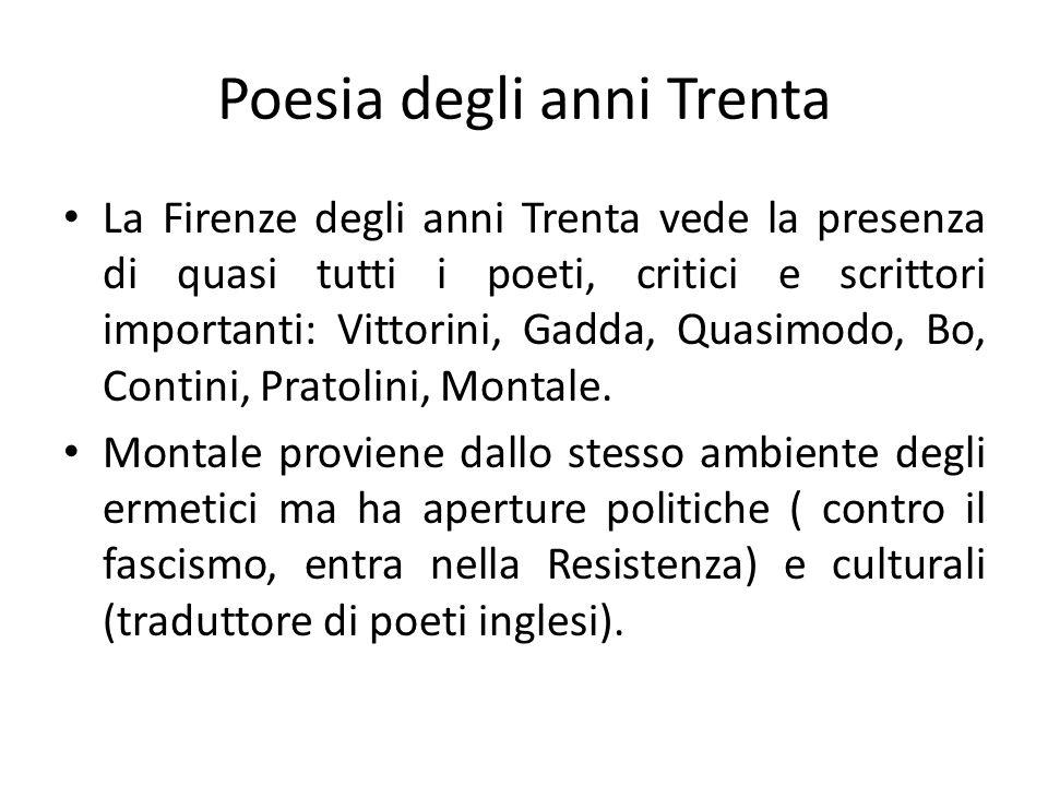 Poesia degli anni Trenta