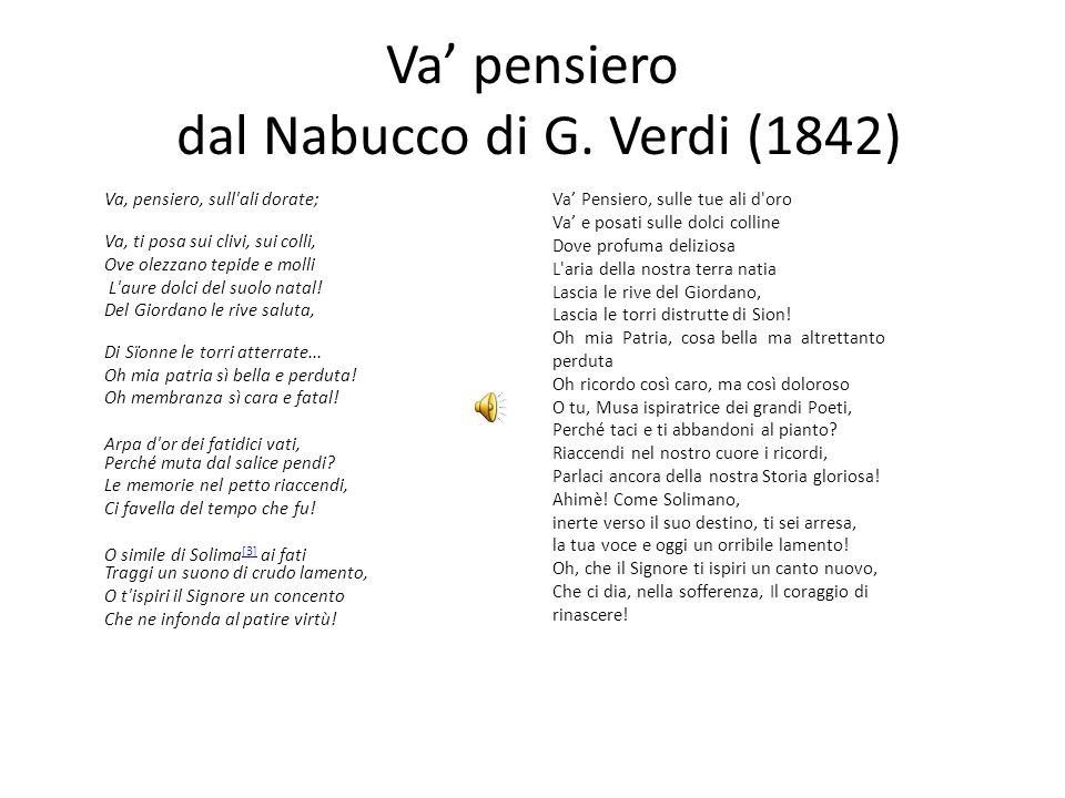 Va' pensiero dal Nabucco di G. Verdi (1842)