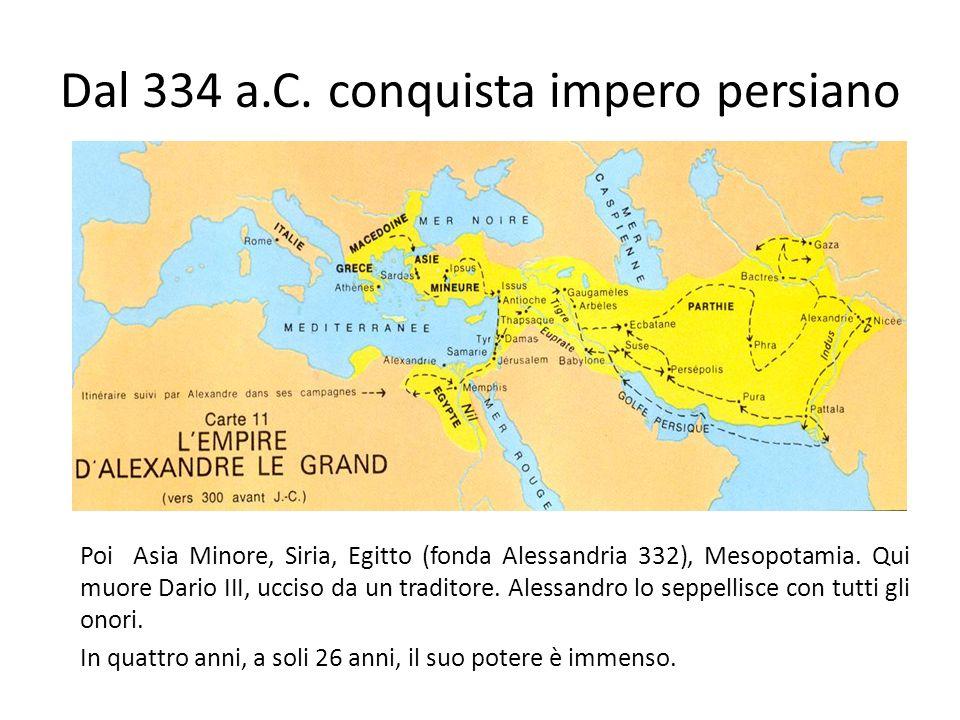 Dal 334 a.C. conquista impero persiano