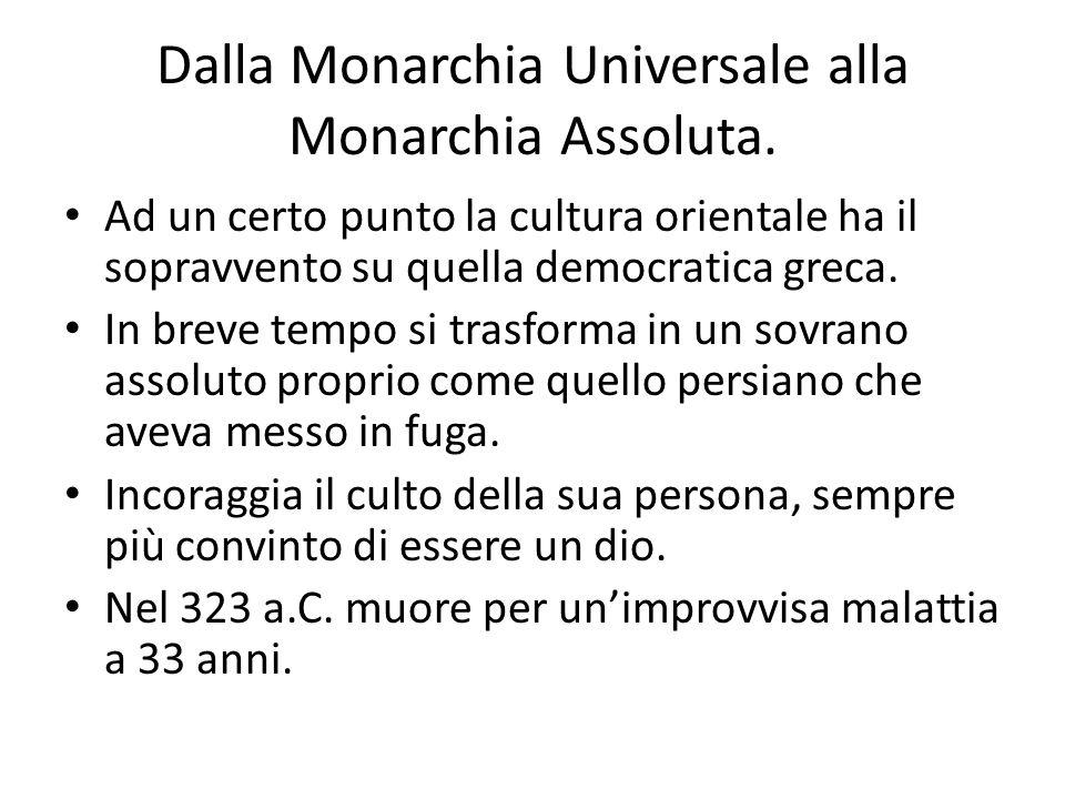 Dalla Monarchia Universale alla Monarchia Assoluta.