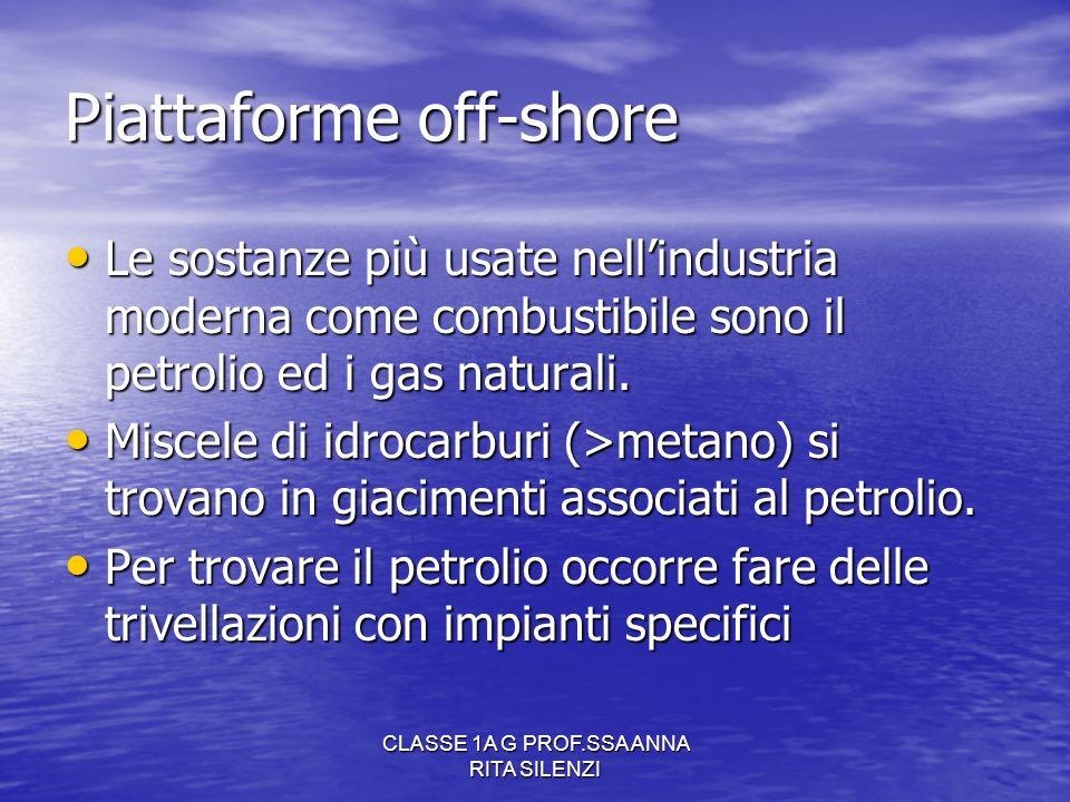 Piattaforme off-shore