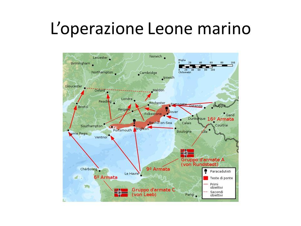 L'operazione Leone marino