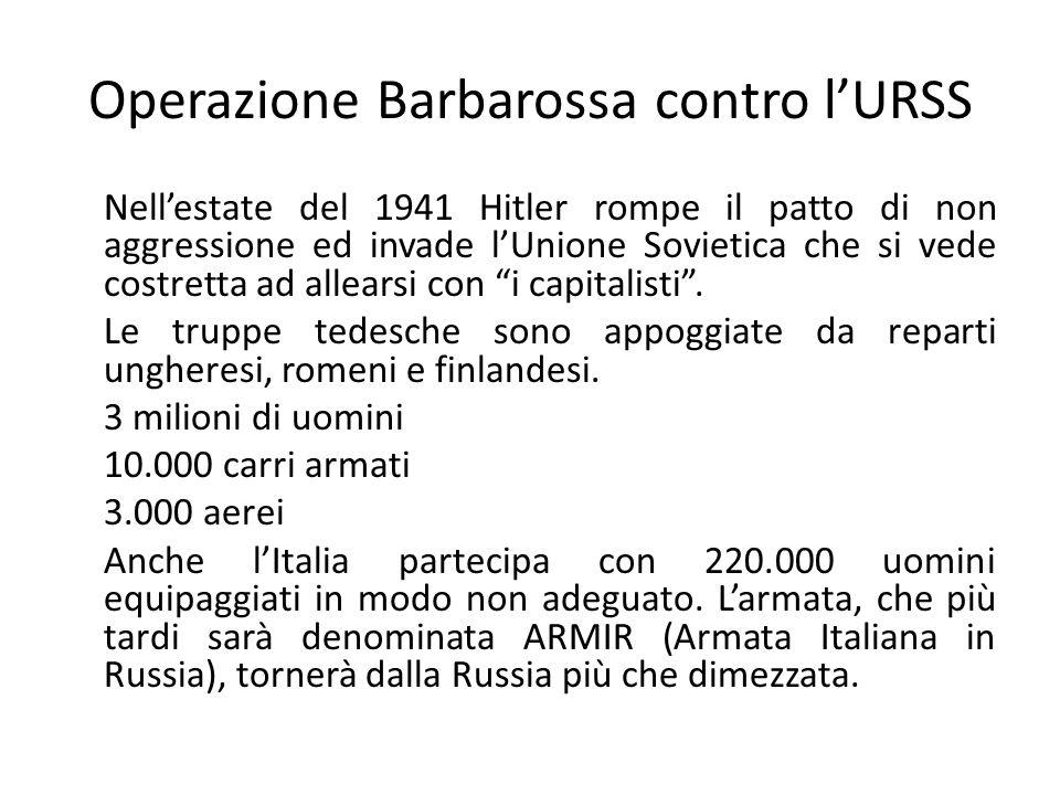 Operazione Barbarossa contro l'URSS