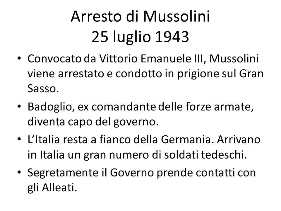 Arresto di Mussolini 25 luglio 1943