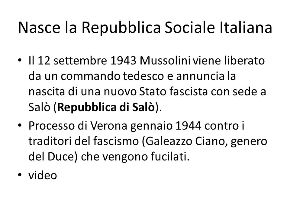 Nasce la Repubblica Sociale Italiana