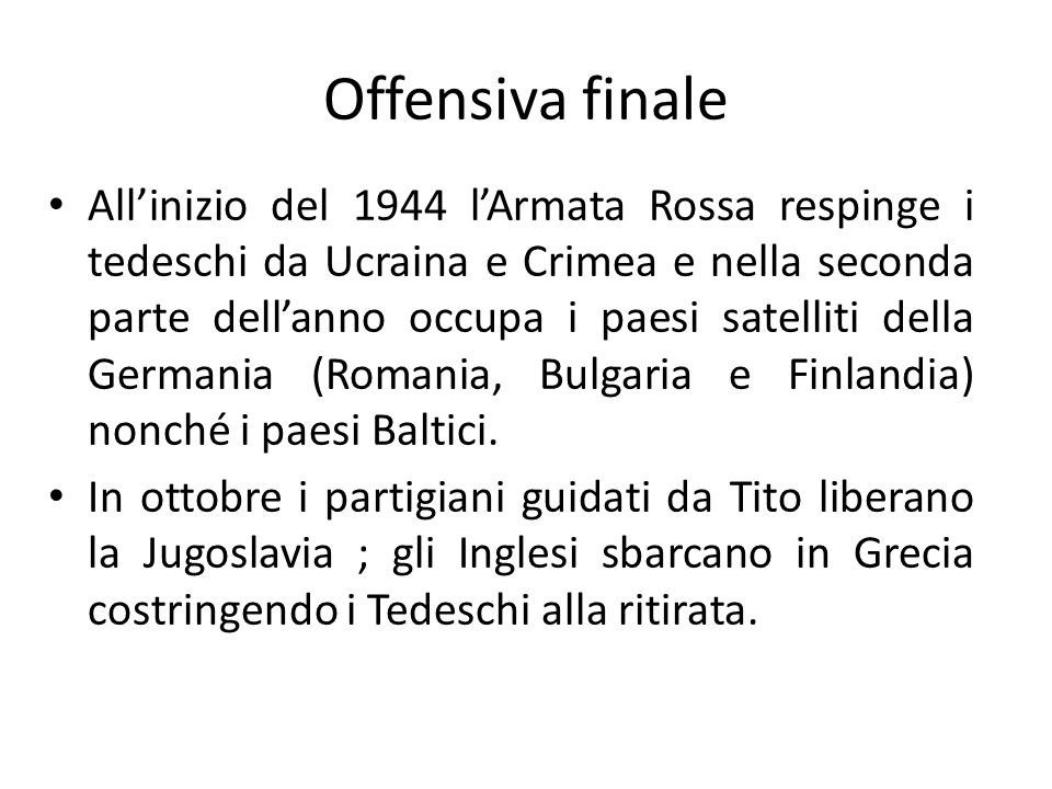 Offensiva finale