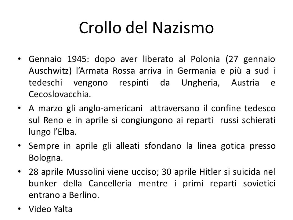 Crollo del Nazismo