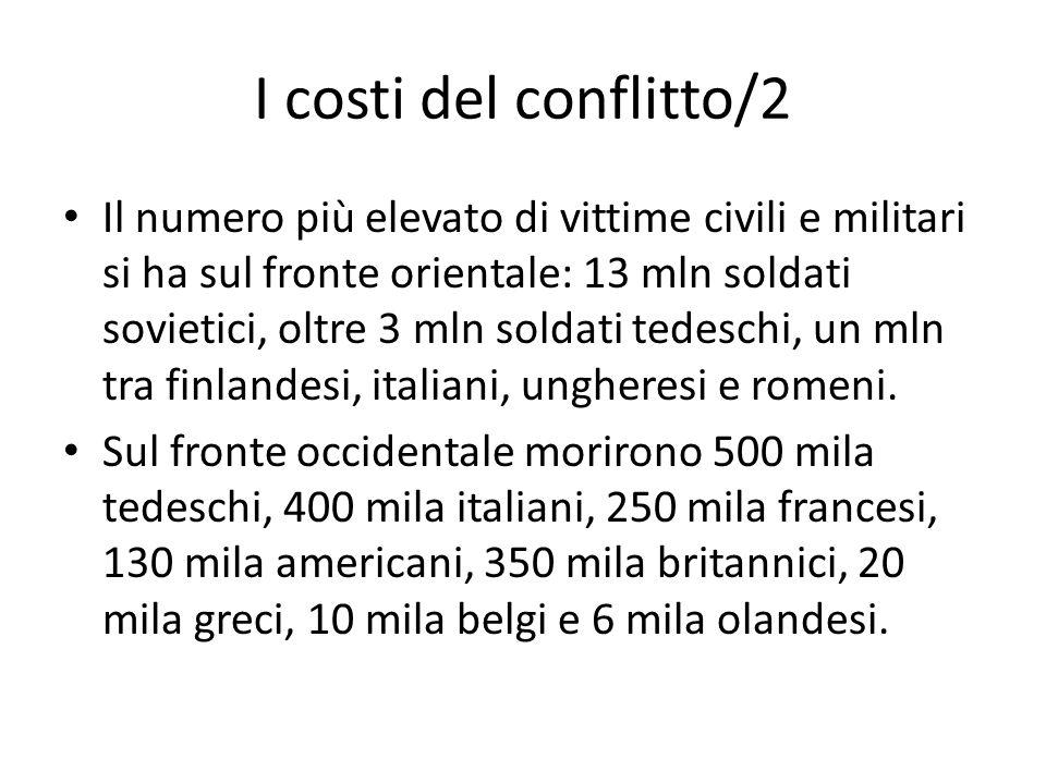 I costi del conflitto/2