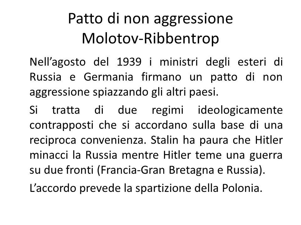 Patto di non aggressione Molotov-Ribbentrop
