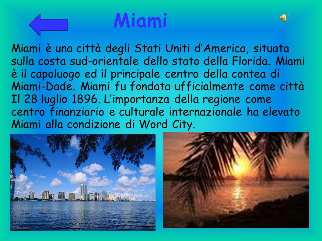 Miami Miami è una città degli Stati Uniti d'America, situata