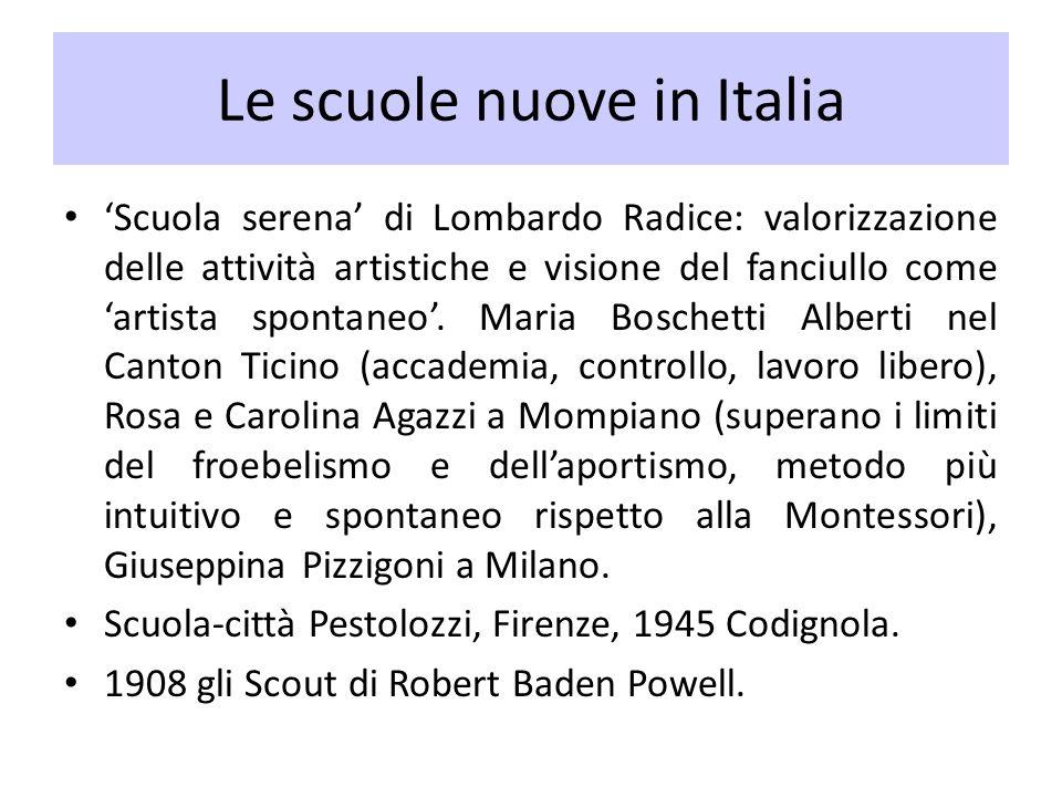 Le scuole nuove in Italia