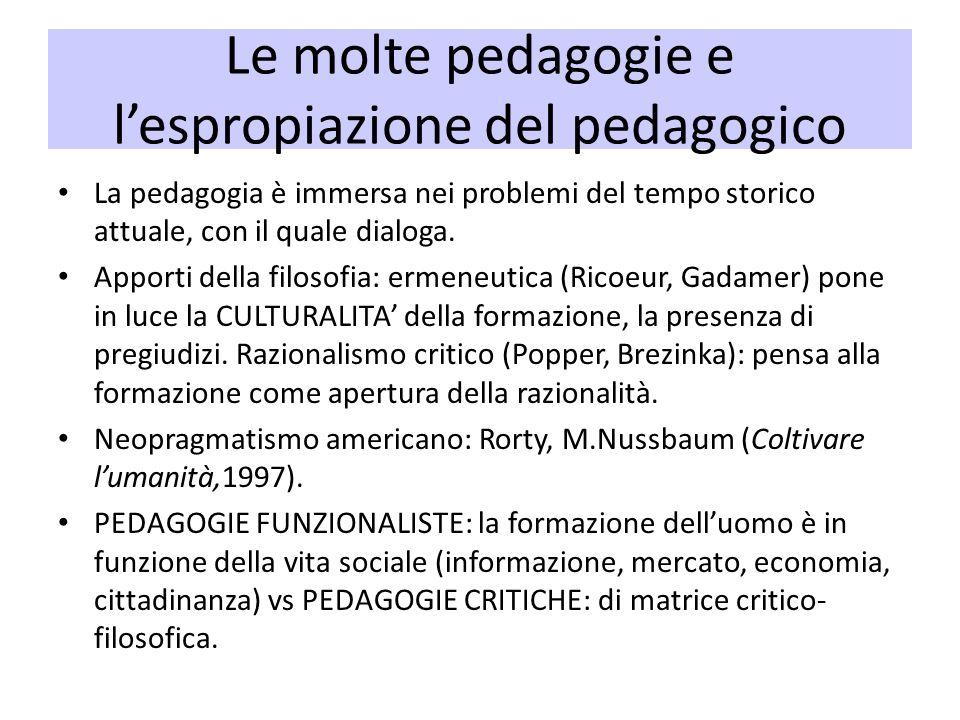 Le molte pedagogie e l'espropiazione del pedagogico