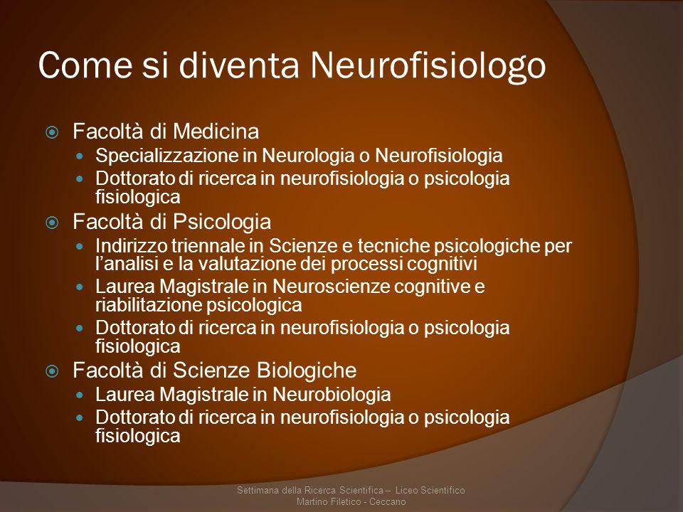 Come si diventa Neurofisiologo