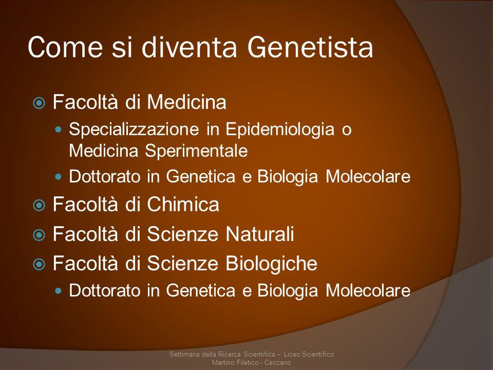 Come si diventa Genetista