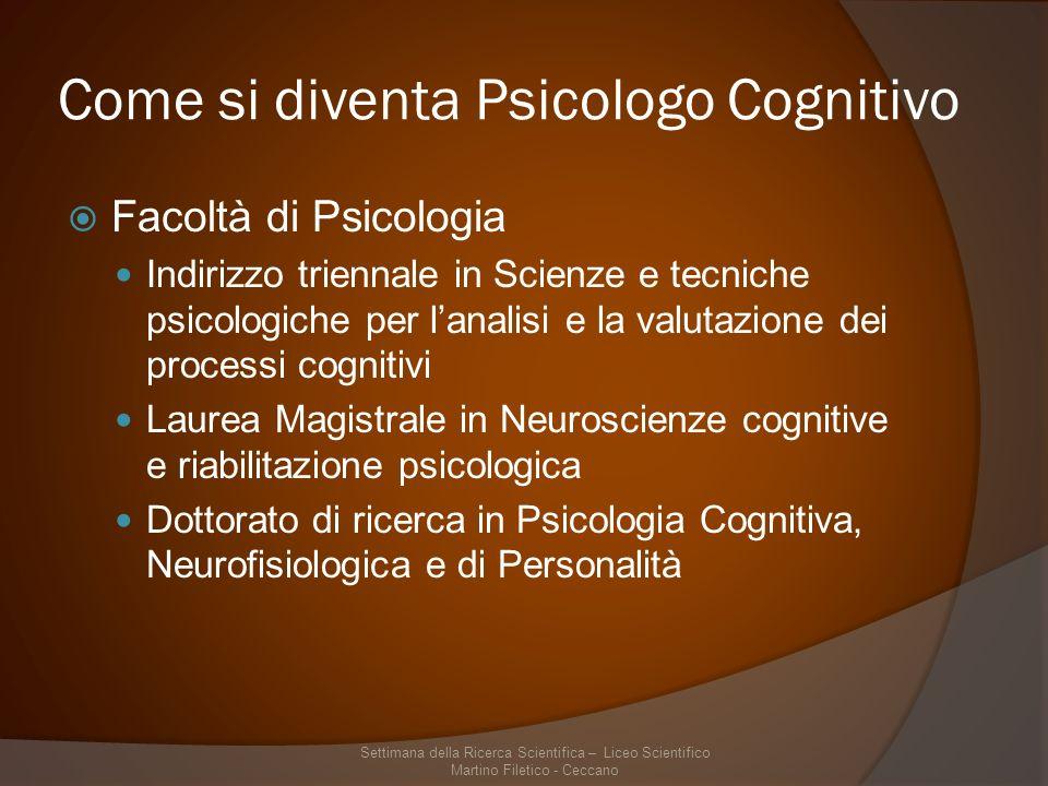 Come si diventa Psicologo Cognitivo