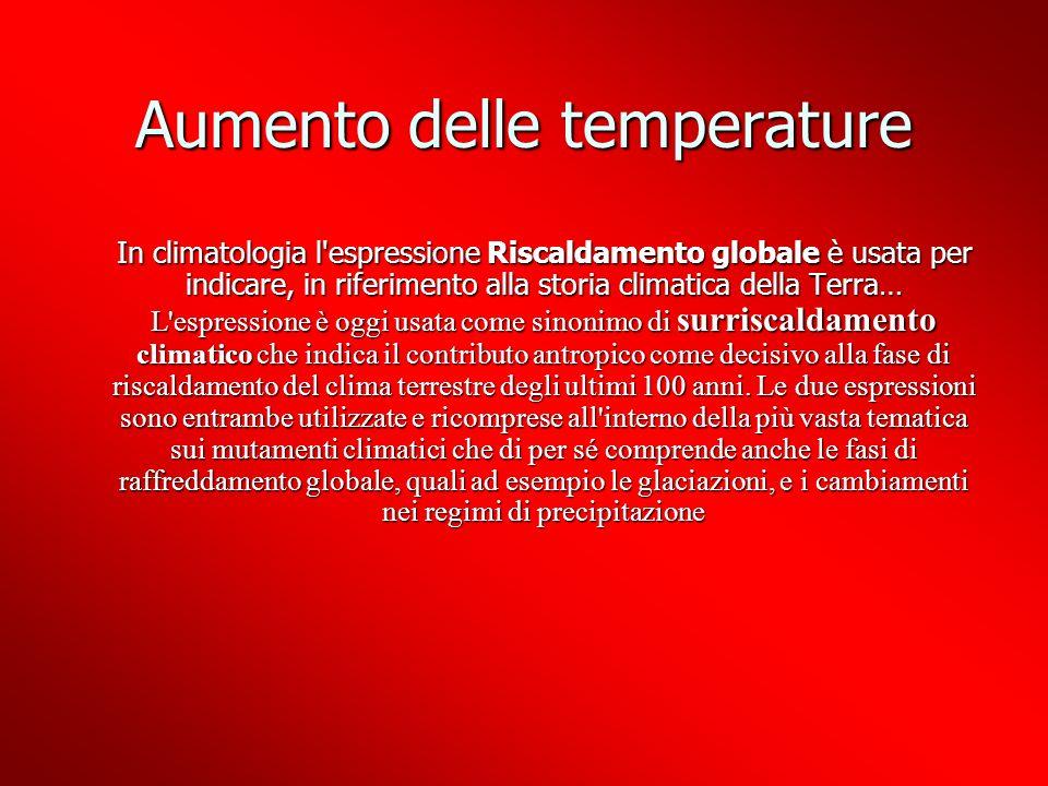 Aumento delle temperature