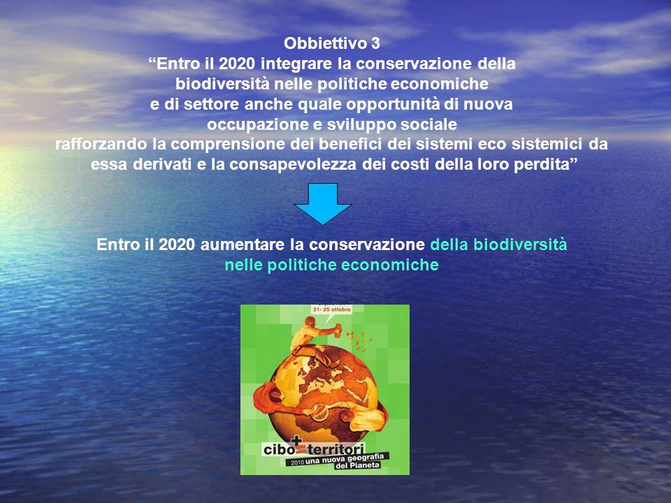 Entro il 2020 integrare la conservazione della